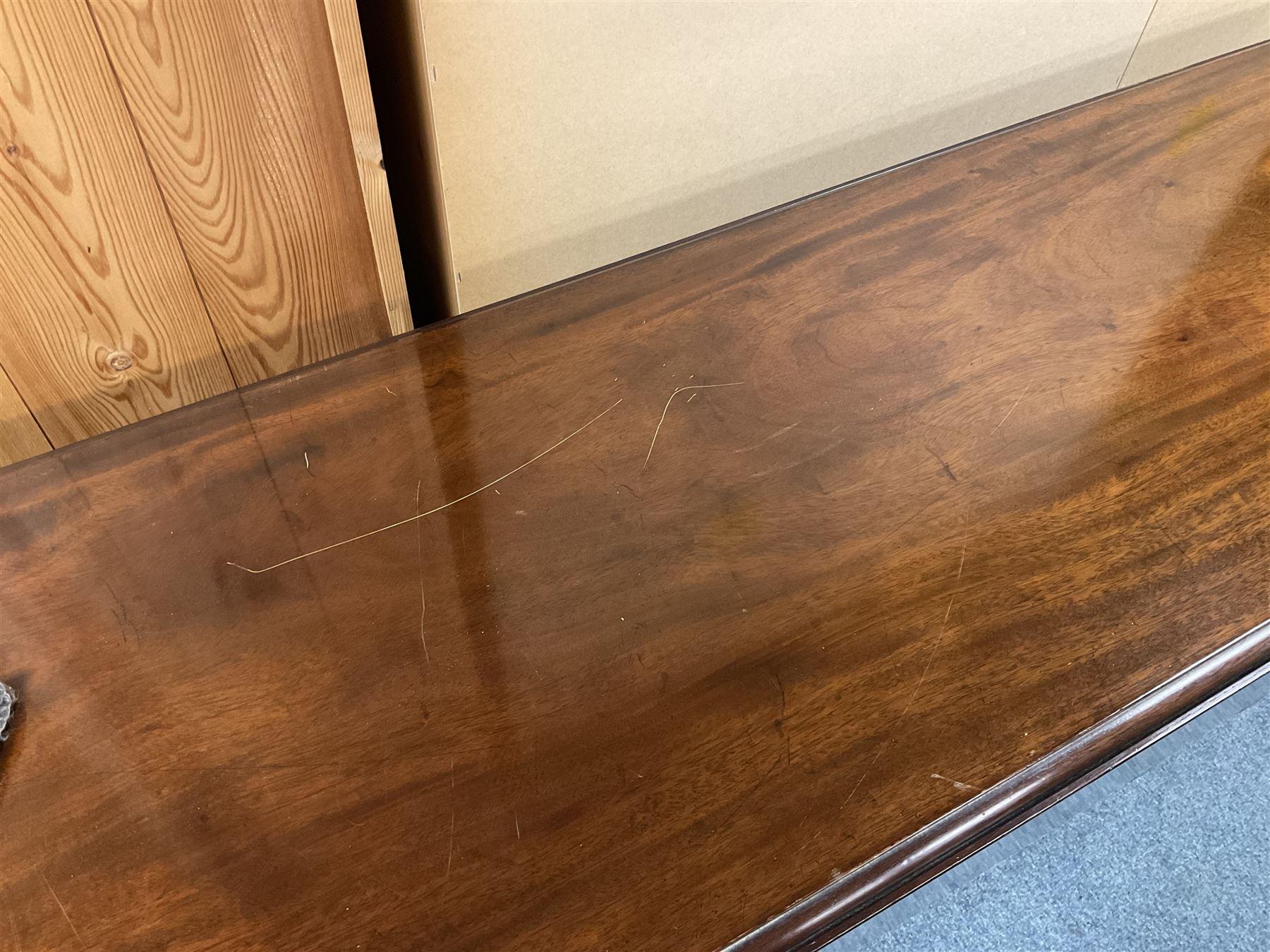 20th century Georgian style mahogany wake table - Image 3 of 3