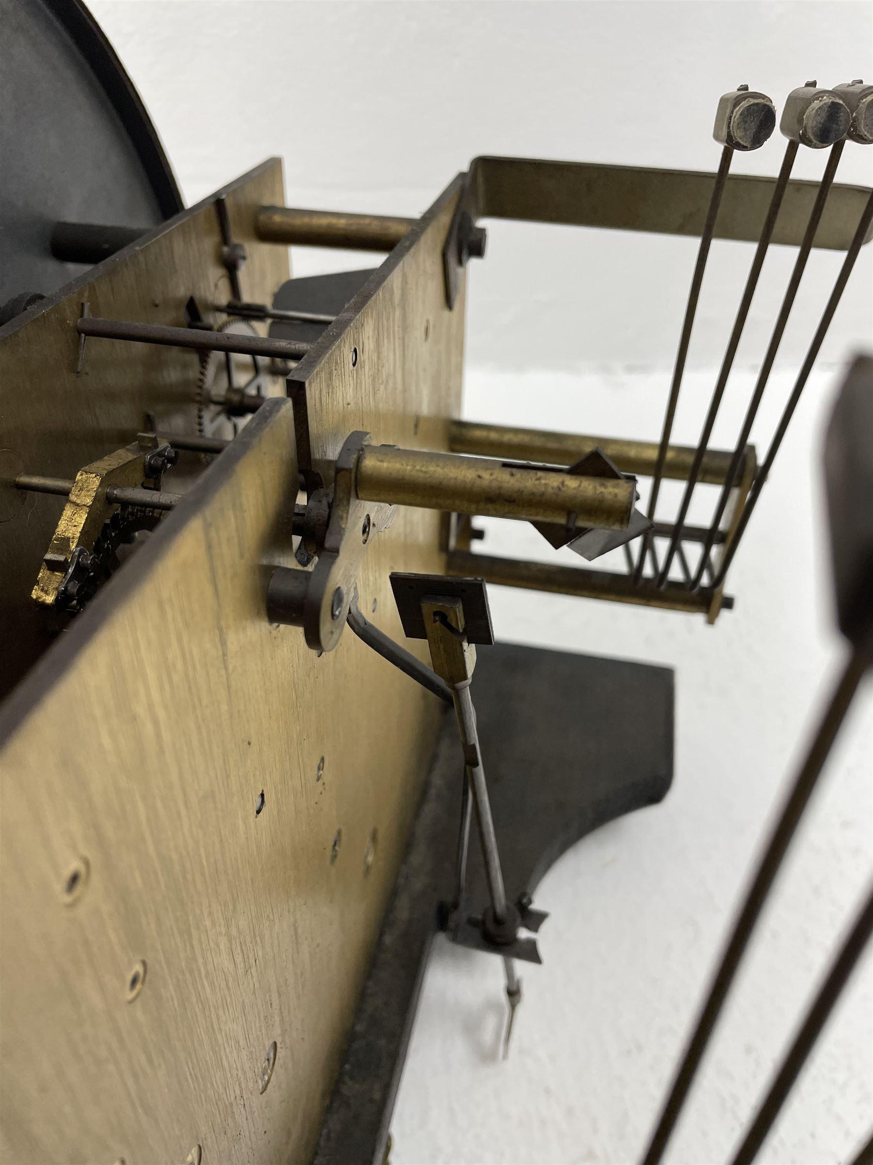 Early 20th century oak longcase clock - Image 3 of 9