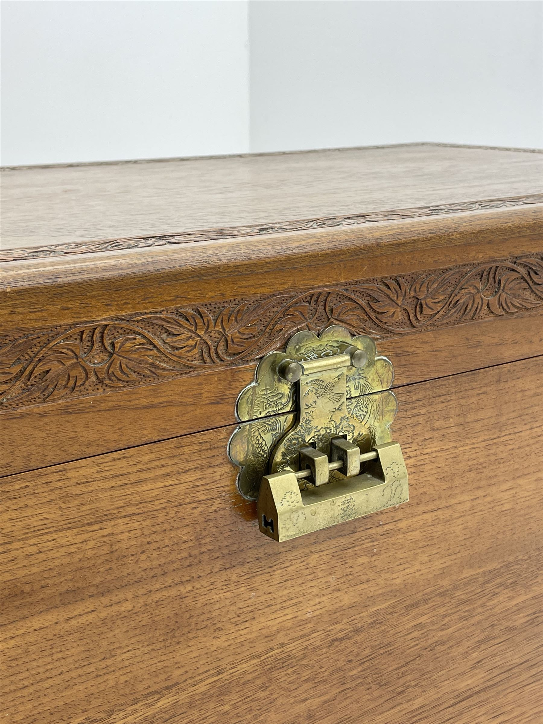 Late 20th Century camphor wood chest - Image 5 of 5