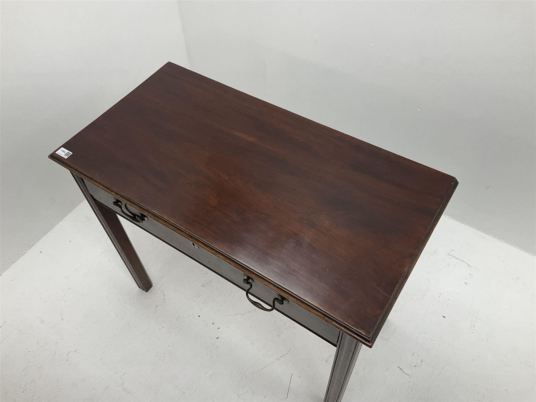 Georgian mahogany side table - Image 3 of 4