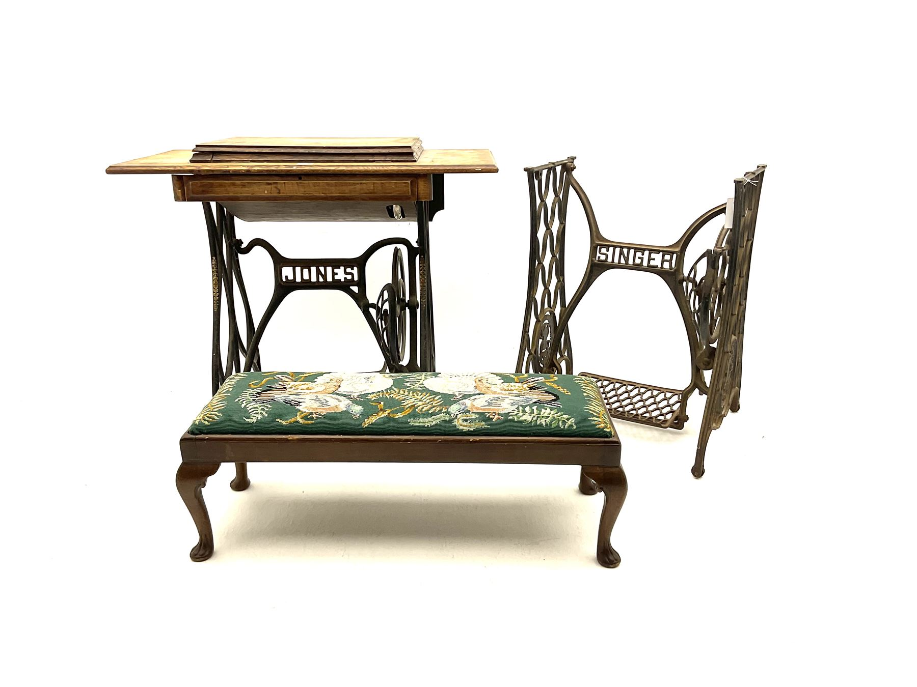 Vintage Jones treadle sewing machine