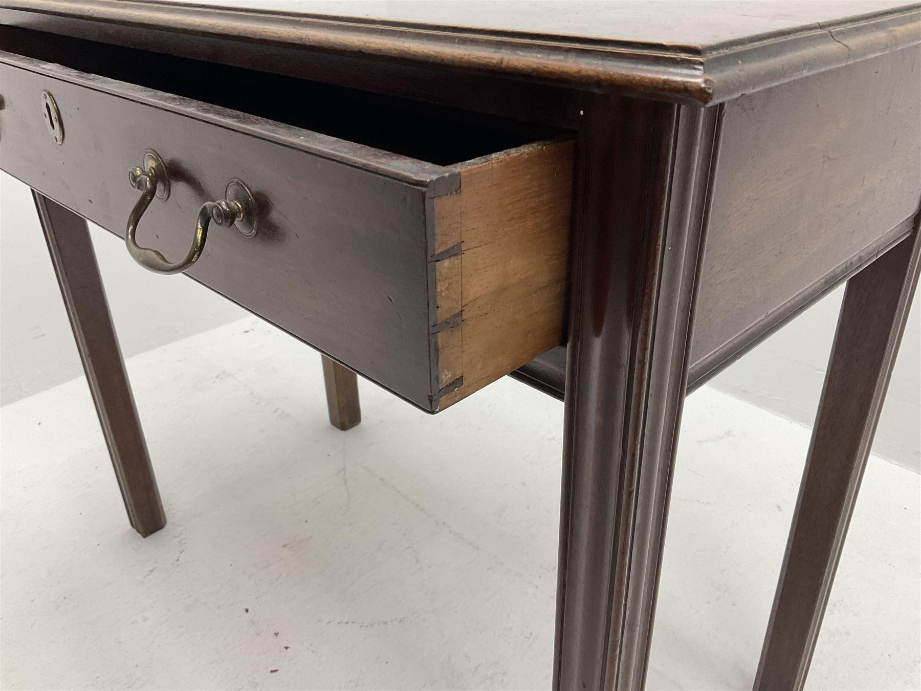 Georgian mahogany side table - Image 4 of 4