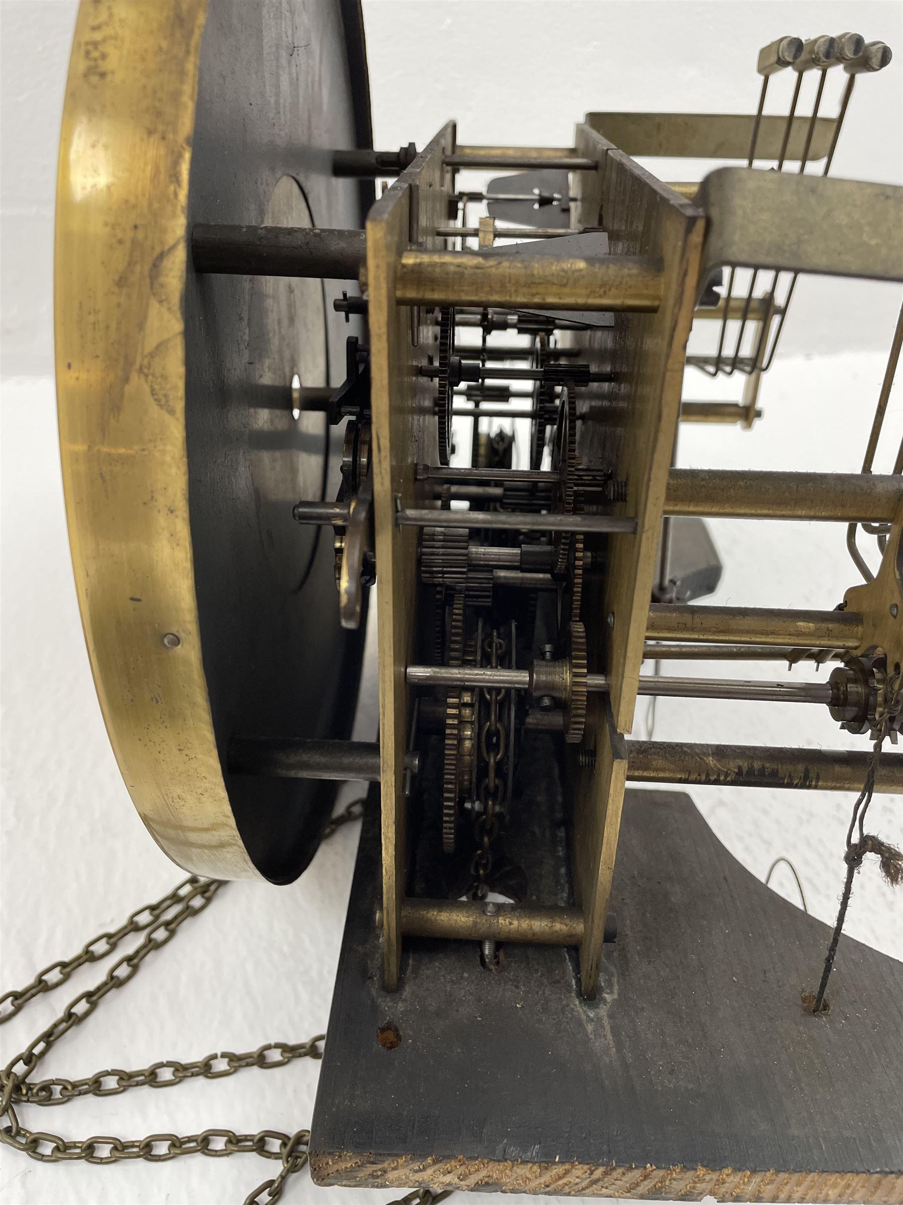 Early 20th century oak longcase clock - Image 7 of 9