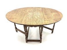 20th century medium oak drop leaf gateleg table