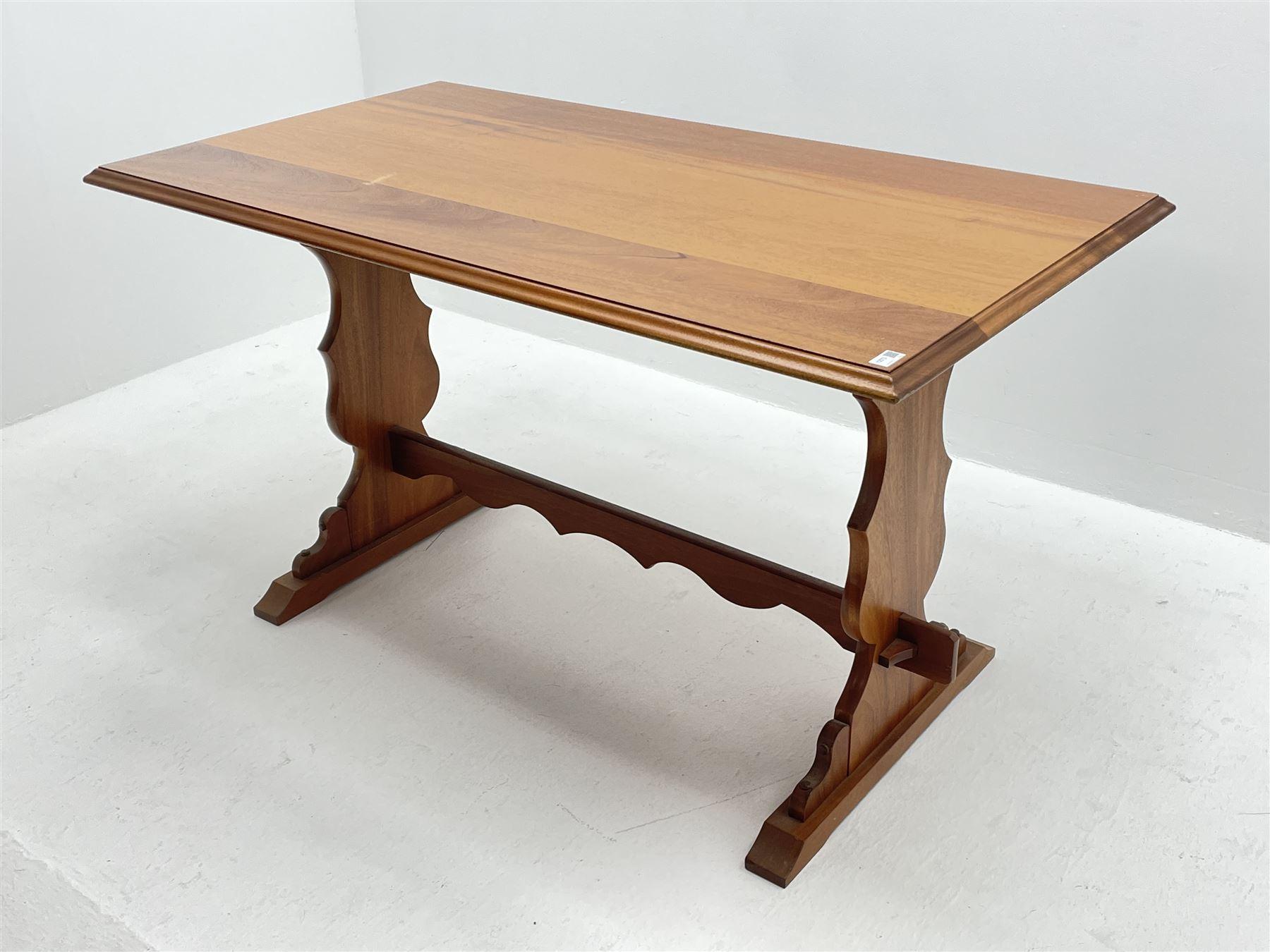 Late 20th century teak table - Image 2 of 3