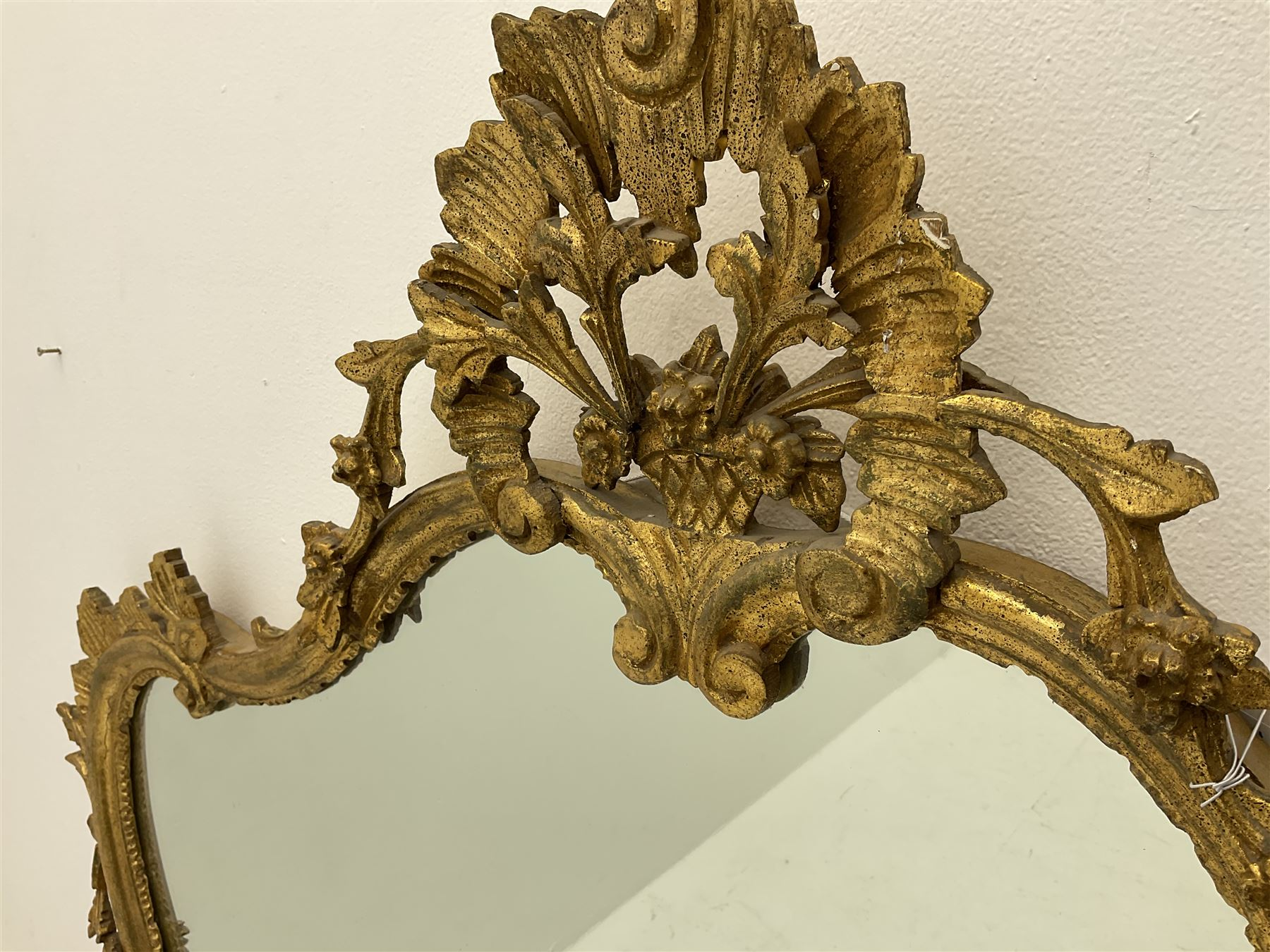 Classical ornate gilt framed shaped wall mirror - Image 2 of 2