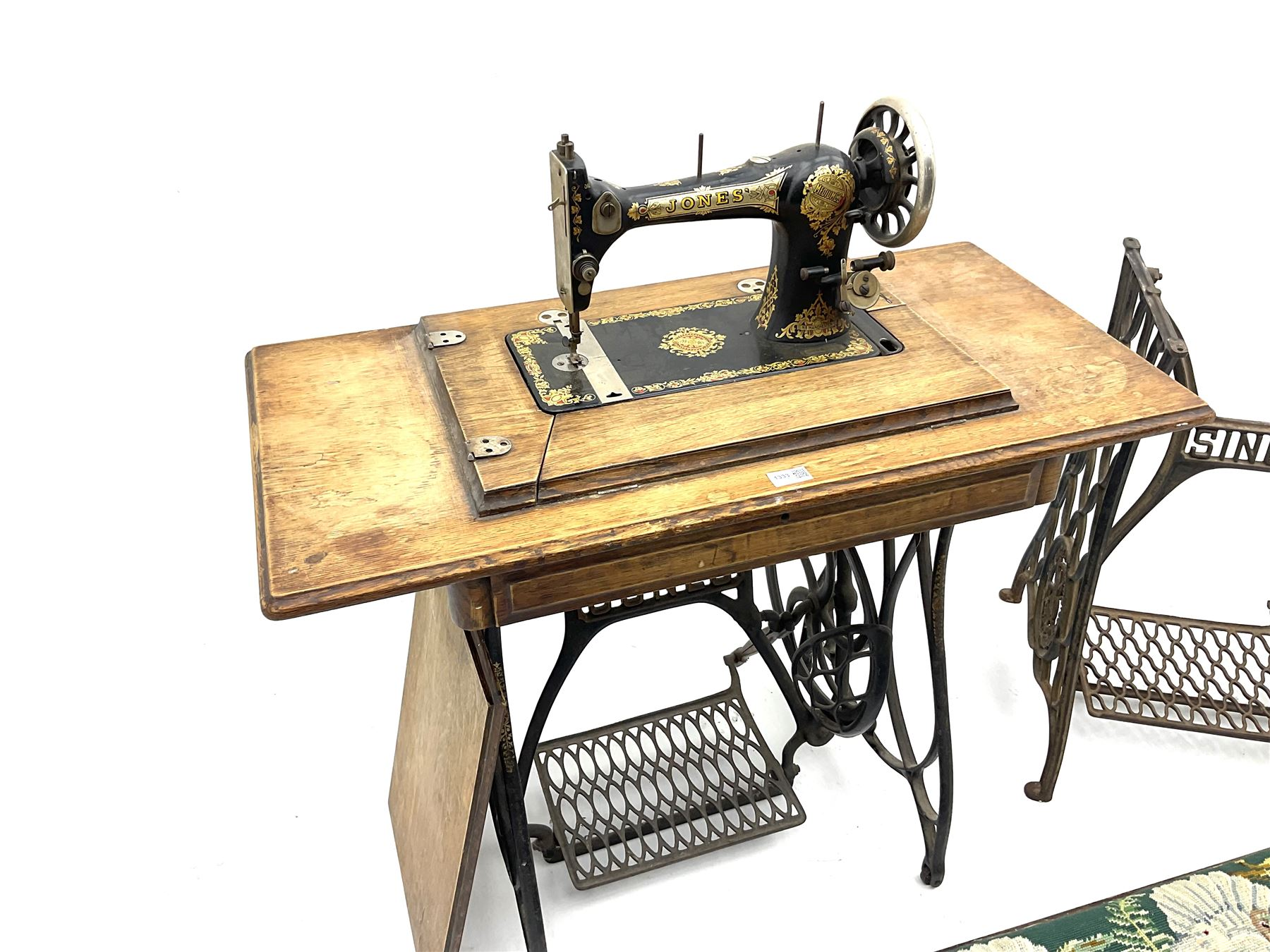 Vintage Jones treadle sewing machine - Image 3 of 3