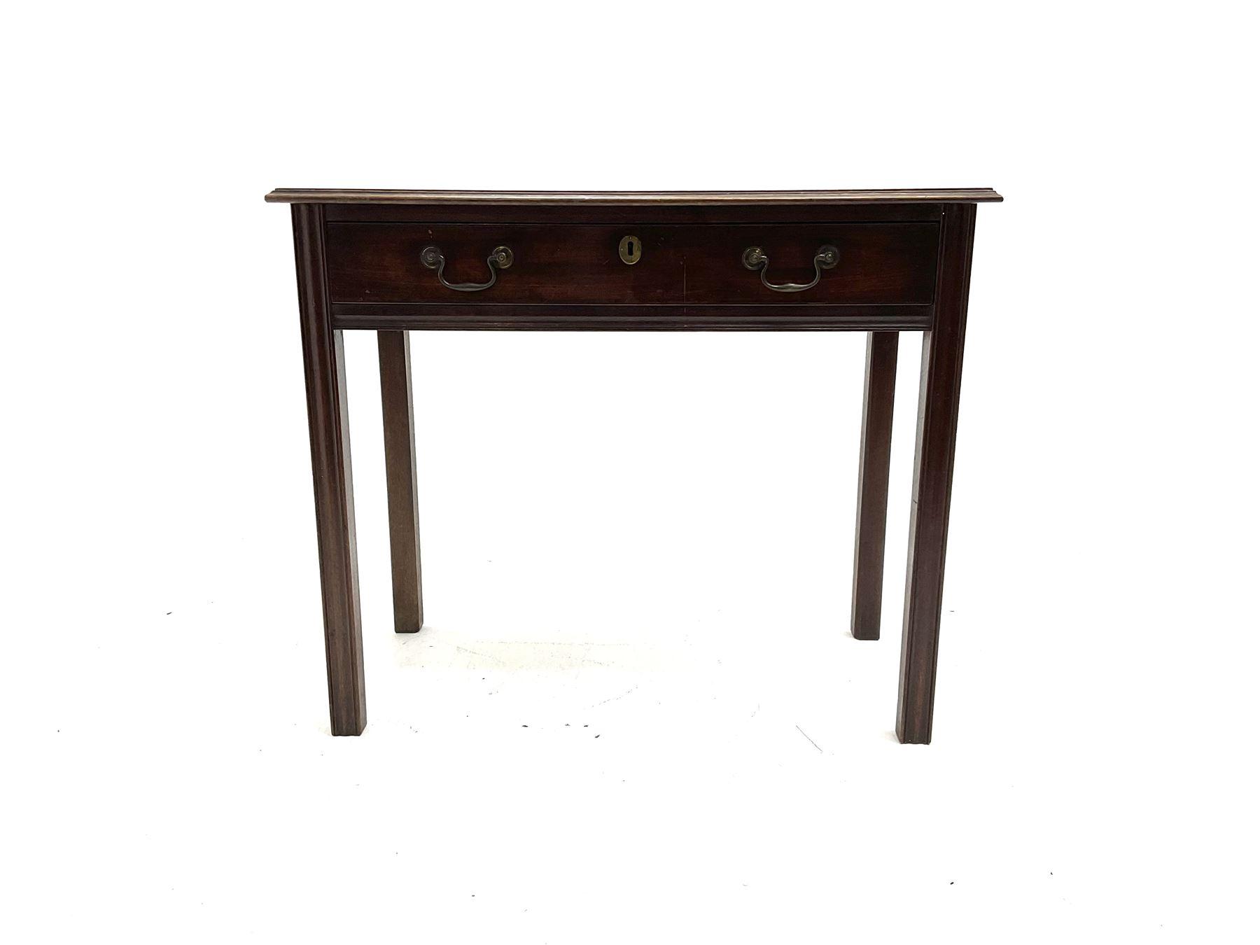 Georgian mahogany side table - Image 2 of 4