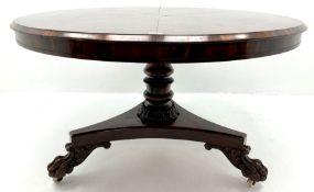 Regency mahogany circular breakfast table