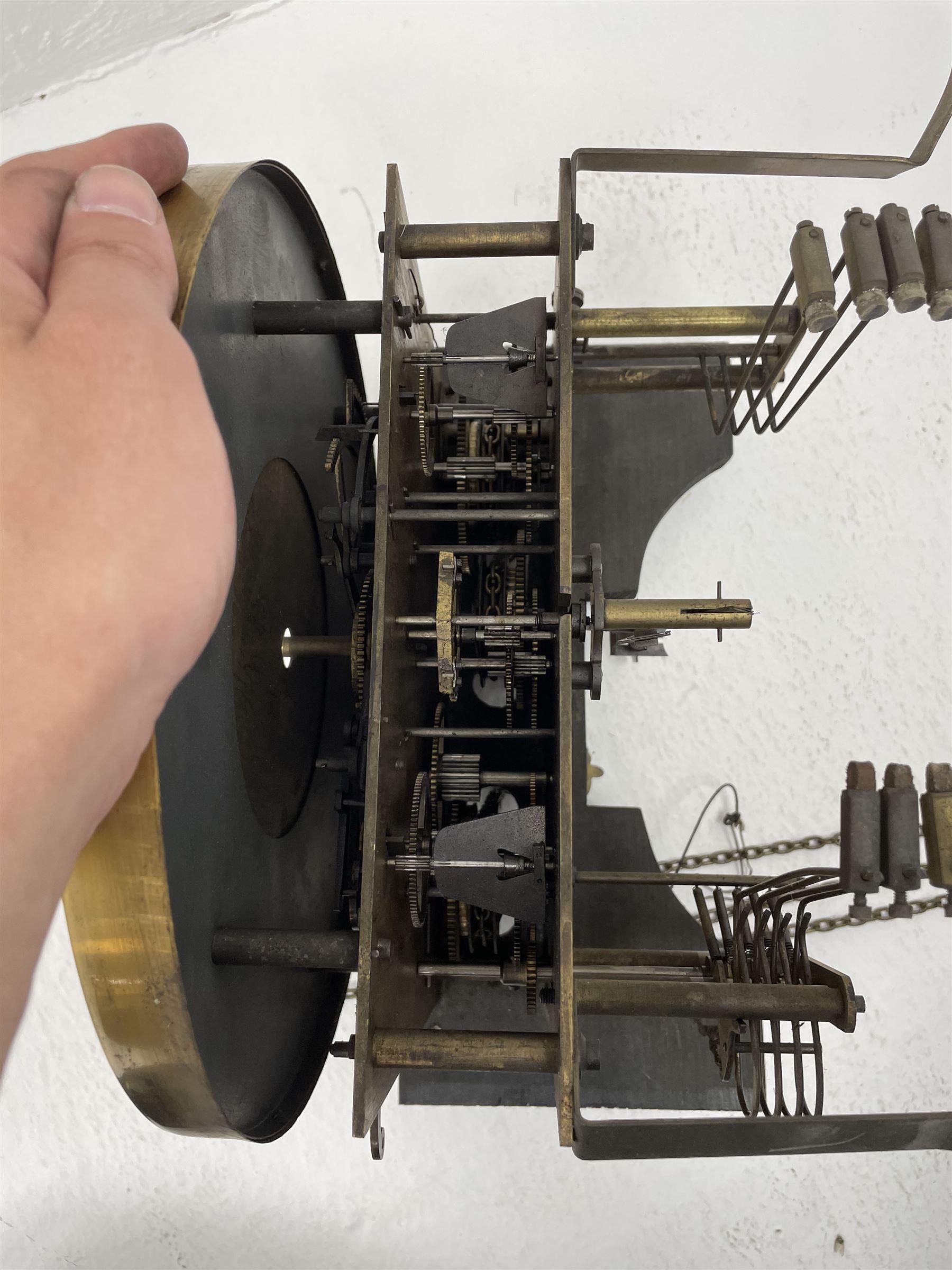 Early 20th century oak longcase clock - Image 6 of 9