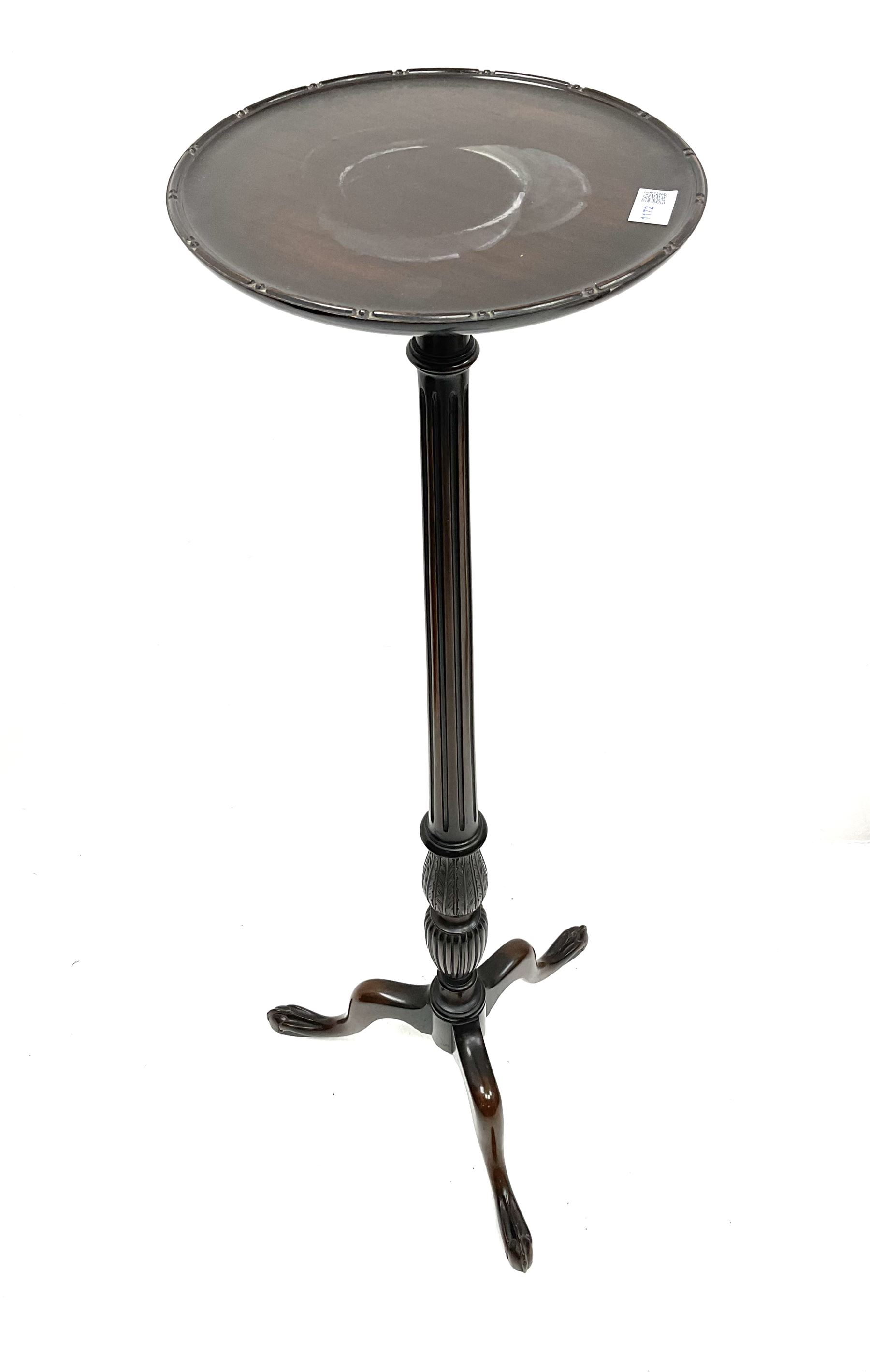 Early 20th century mahogany plant stand - Image 3 of 3