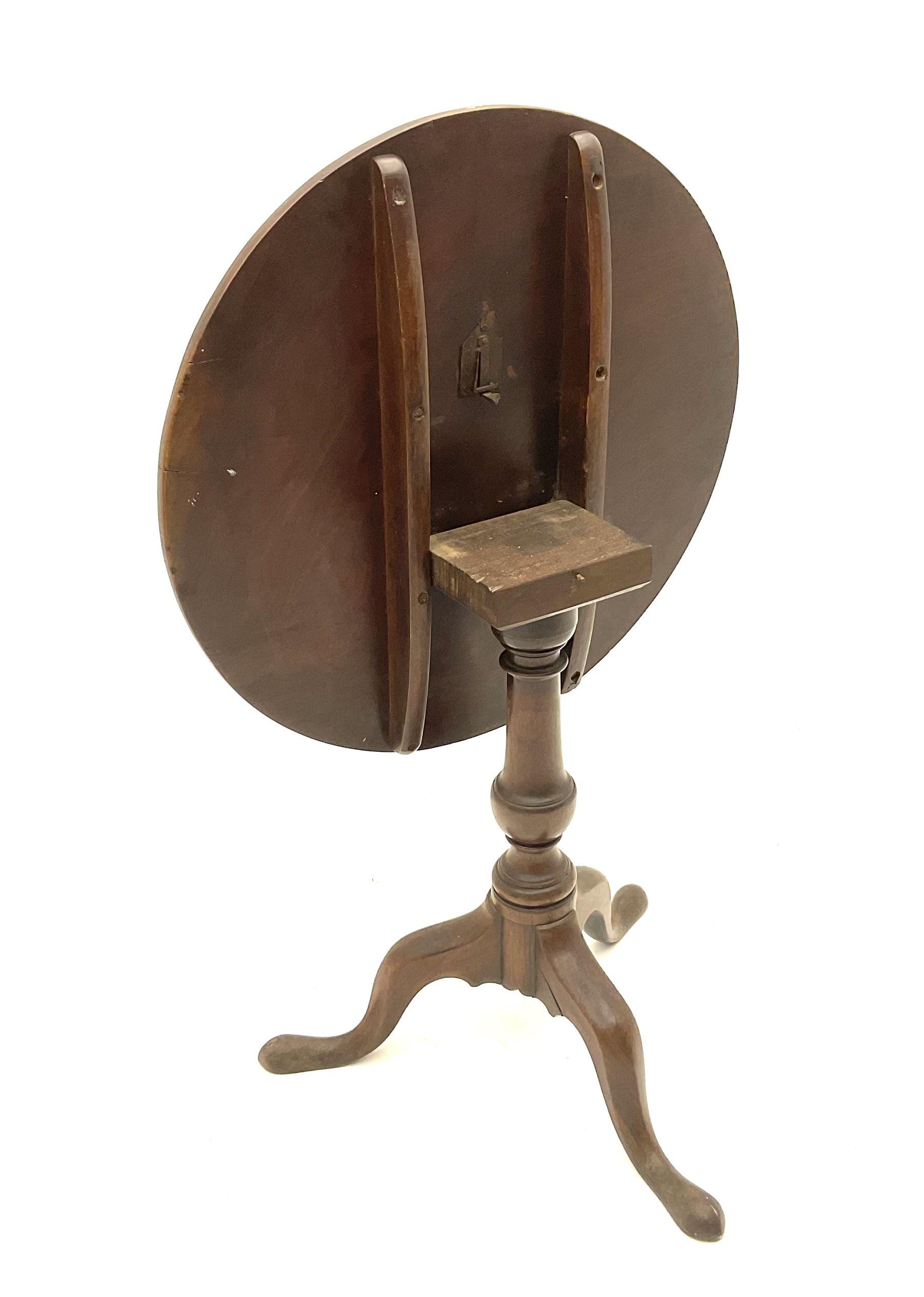 19th century mahogany tripod table - Image 3 of 3