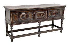 17th century style oak dresser base