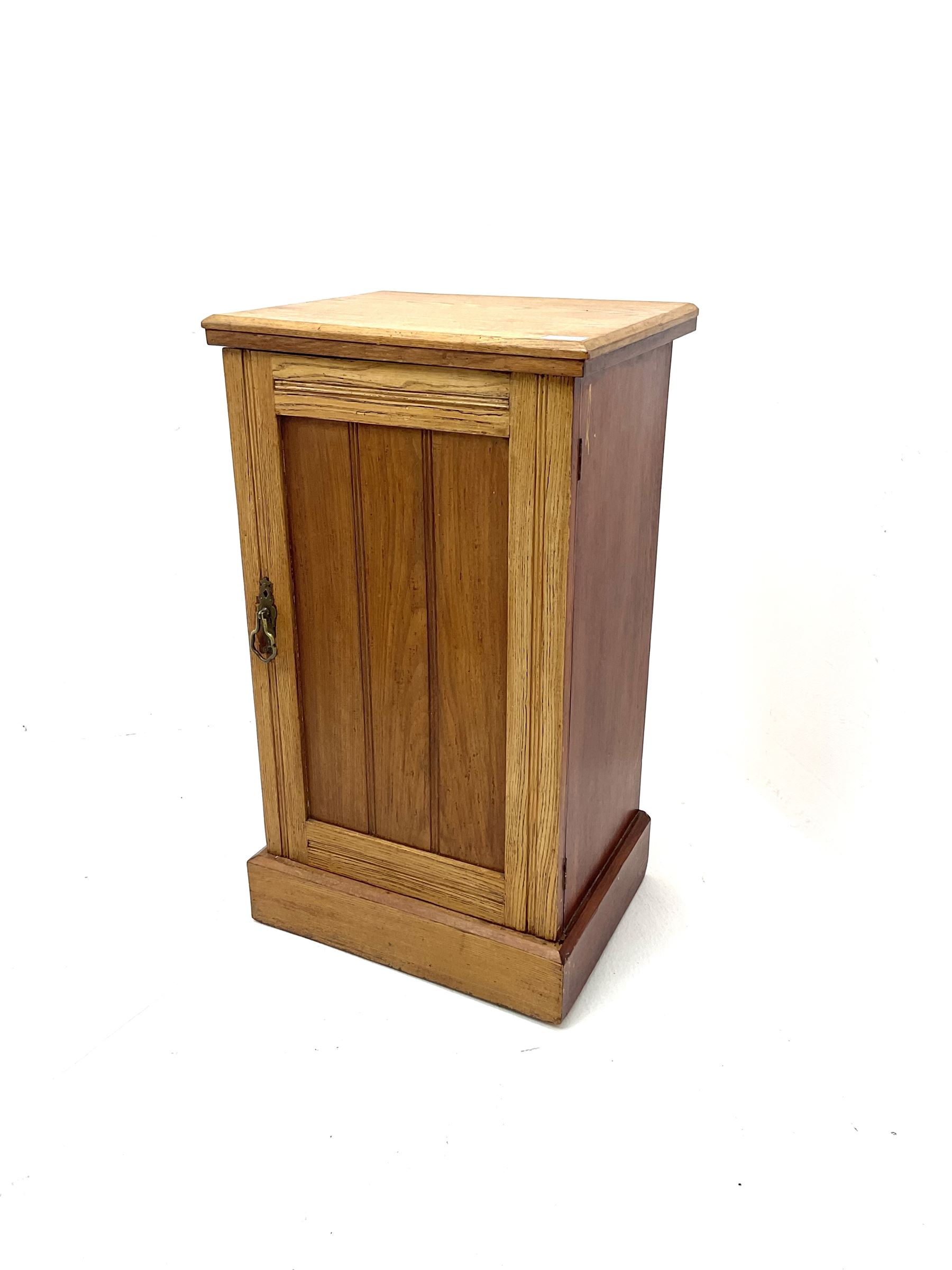 Early 20th century elm bedside cabinet