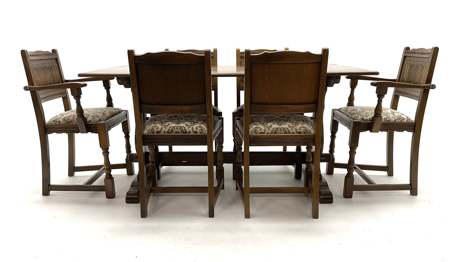 Old Charm - medium oak dining table - Image 2 of 2