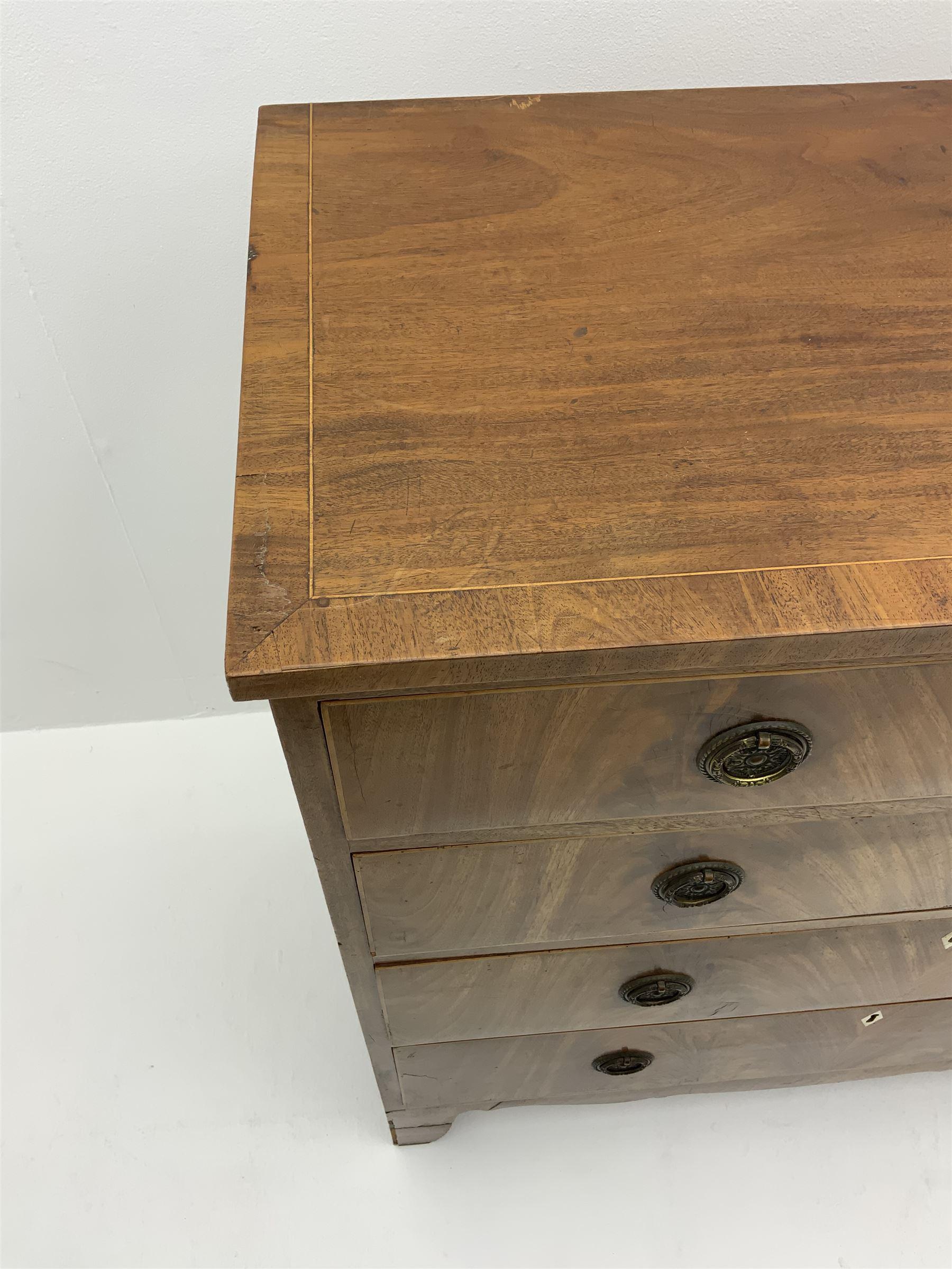 George III inlaid mahogany chest - Image 3 of 3
