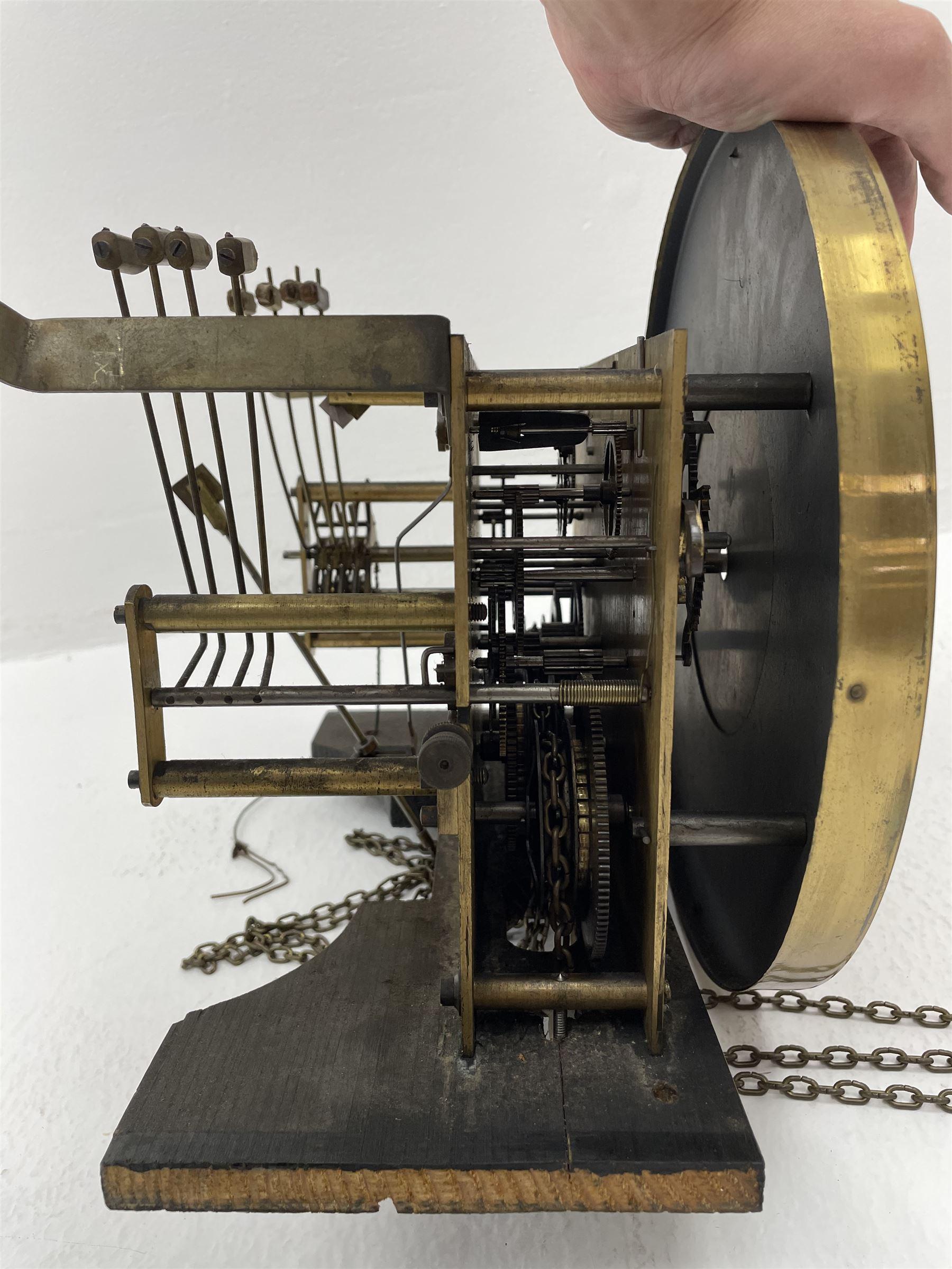Early 20th century oak longcase clock - Image 5 of 9