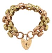 9ct rose and yellow gold link bracelet
