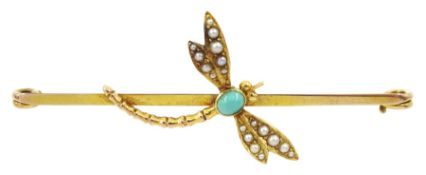 Gold dragonfly brooch