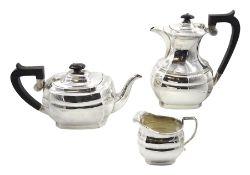Silver three piece tea service by J B Chatterley & Sons Ltd