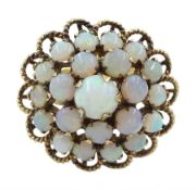9ct gold opal cluster
