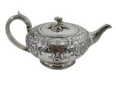 George III silver teapot