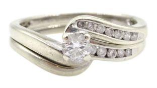 9ct gold single stone diamond ring