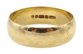 9ct gold wedding band hallmarked