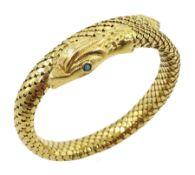 18ct gold snake bangle