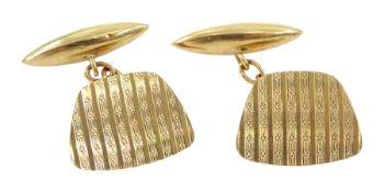 Pair of 9ct gold link cufflinks