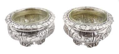 Pair of George IV silver salts
