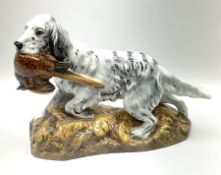 Royal Doulton model of an English setter carrying a pheasant