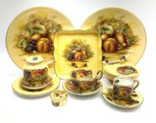 A collection of Aynsley Orchard Gold