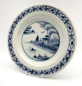 An 18th century Delft tin glazed plate