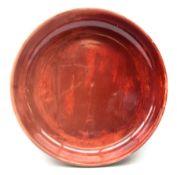 Bernard Moore flamb� shallow bowl