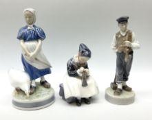 Three Royal Copenhagen figures