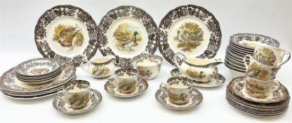 Royal Worcester Palissy Game Series pattern dinner wares
