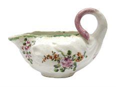 18th century Derby porcelain sauce boat