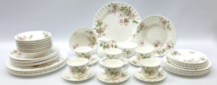 Wedgwood Apple Blossom pattern dinner and tea wares