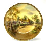 A Royal Worcester cabinet plate