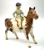 Beswick girl on skewbald pony model no 1499