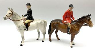 Beswick model of a huntswoman on grey horse model no 1730