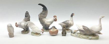 Eight Royal Copenhagen figures