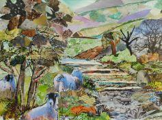 Penny Wicks (British 1949-): 'Moorland Magic'
