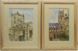 Penny Wicks (British 1949-): 'Beverley Minster' and 'All Saints Church Kirkbymoorside'