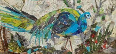 Penny Wicks (British 1949-): 'Pondering Peacock'
