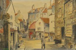 Jack Rigg (British 1927-): New Road 'Robin Hood's Bay'