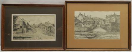 Peter Charles Ward (British 20th century): 'Lockton Village' near Pickering and 'Robin Hood's Bay ci
