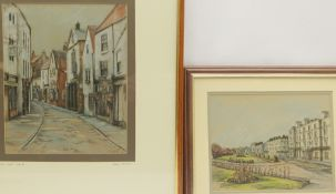 Sarah Garforth (British Contemporary): 'Church Street Whitby' and 'The Crescent Filey'