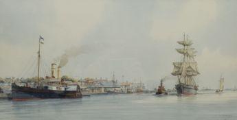 Mervyn Gordon Pearson (British 1934-): 'Shipping off Cowes'